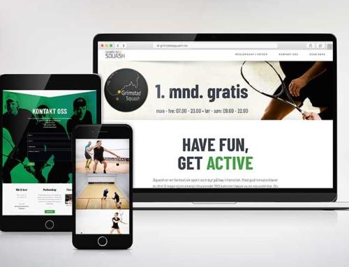 Nettsider til Grimstad Squash