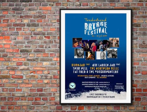 Plakat til Tvedestrand Bryggefestival